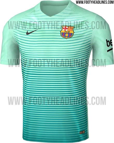 fc961f335 Koszulka jest podobna do ostatnich trykotów Barcelony. Ma dekolt w serek i  jest wykonana z tych samych materiałów co pierwszy i drugi komplet strojów  na ...