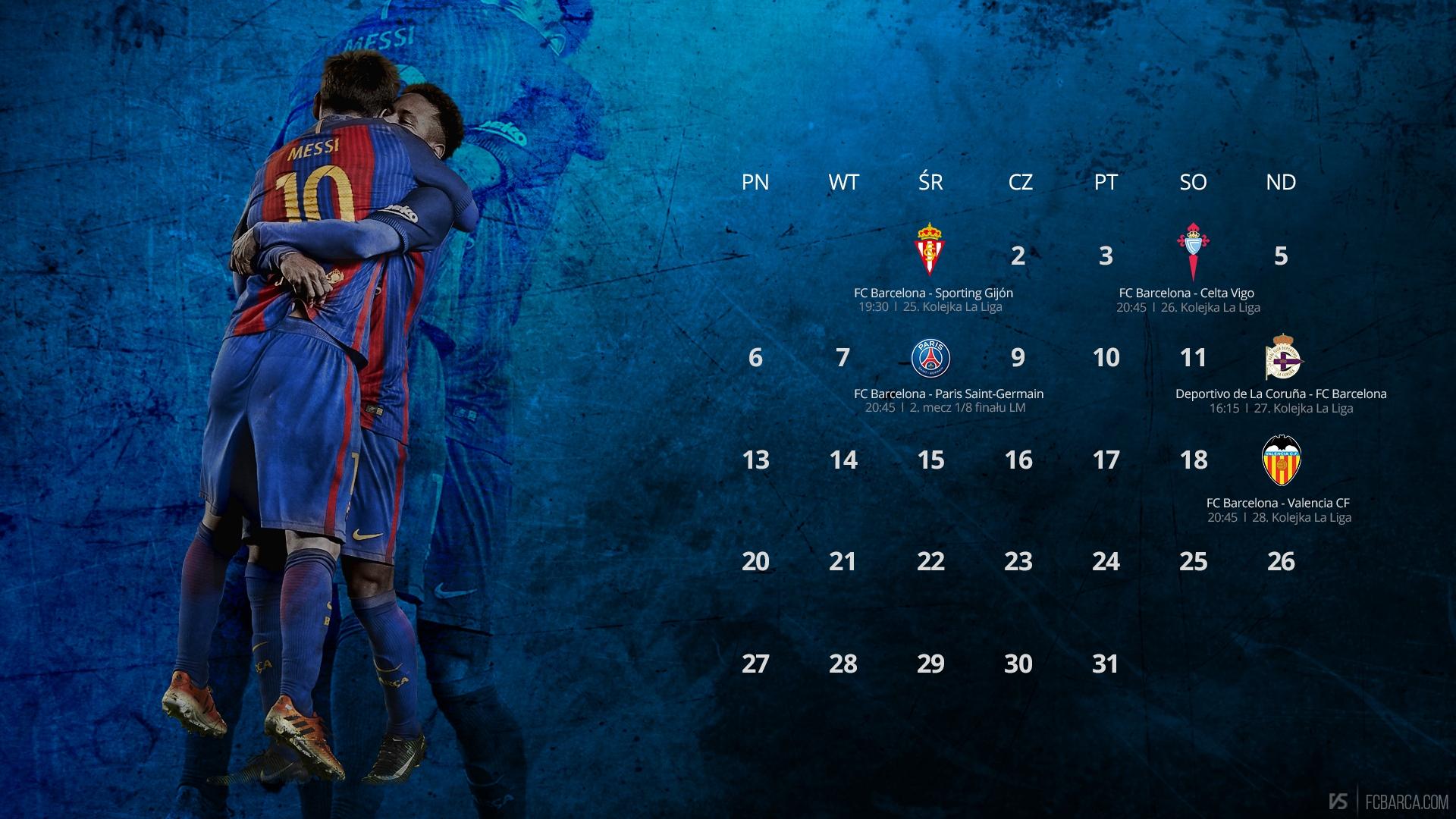 Kalendarz Na Marzec 2017 Fcbarcacom