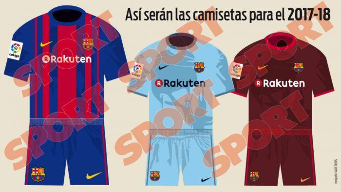 c311e95cf Tak będą wyglądać stroje FC Barcelony w sezonie 2017/18 › FCBarca.com