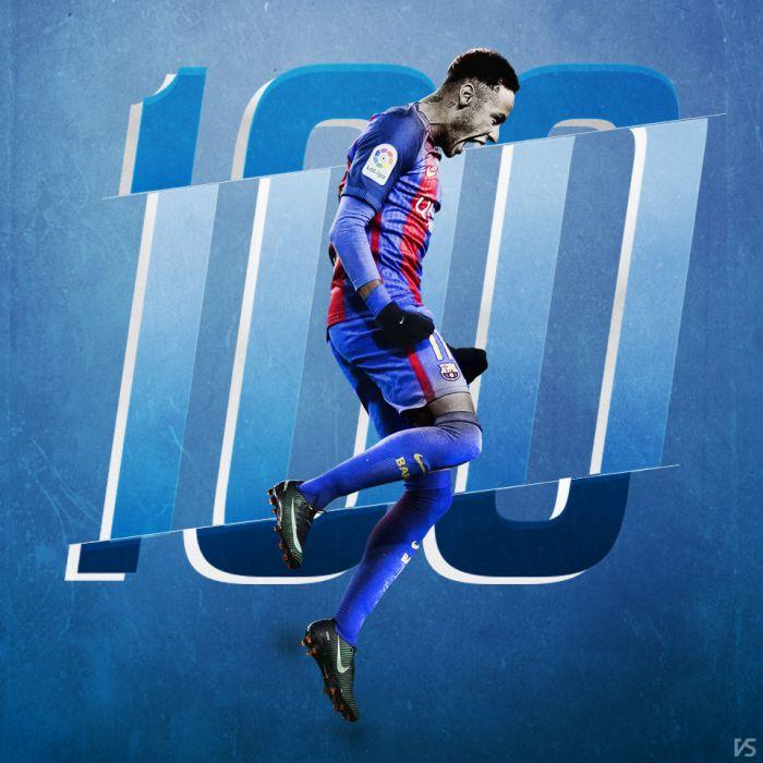 Setny gol Neymara w barwach FC Barcelony