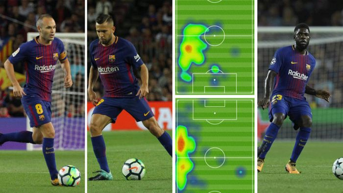 Umtiti, Alba, Iniesta - kolejne tridente w Barcelonie