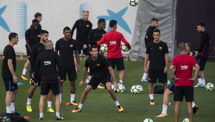 Barcelona rozpoczęła przygotowania do meczu ze Sportingiem [WIDEO]