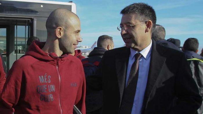 Bartomeu: To ja zakontraktowałem Mascherano w 2010 roku i teraz mam nadzieję, że zostanie