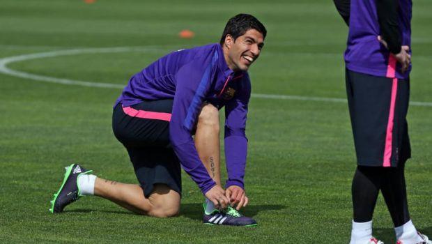 Luis Suárez trenował z resztą grupy