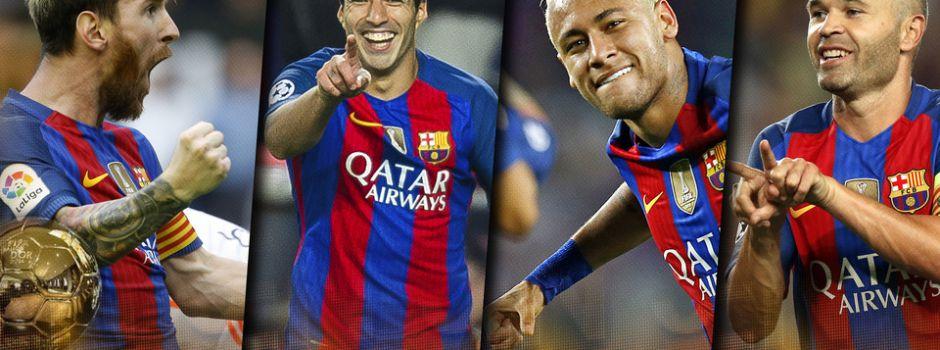 Neymar i Luis Suárez dołączają do Iniesty i Messiego w walce o Złotą Piłkę