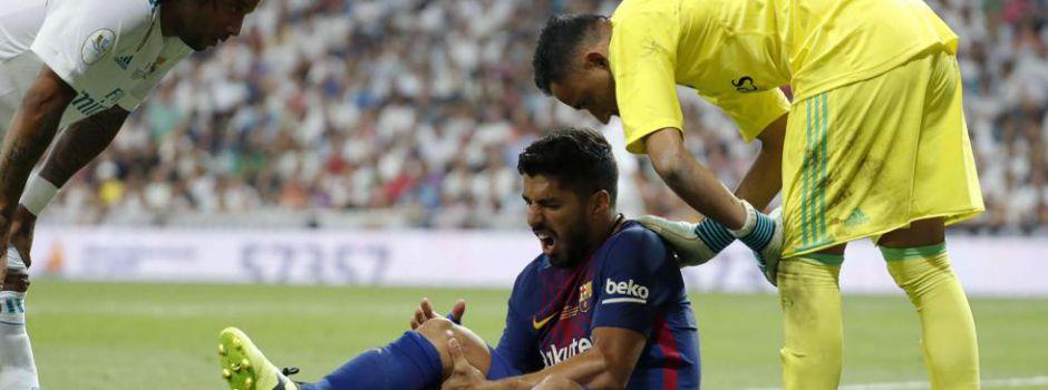 Oficjalnie: Miesiąc przerwy Suáreza, niegroźna kontuzja Piqué