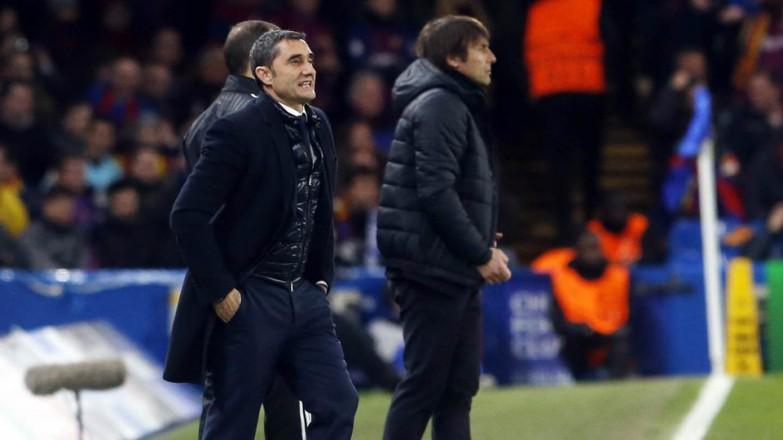 Valverde w przerwie meczu z Romą: Jedna drużyna rywalizuje, druga nie